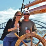 sailing the tall ship Sydney Harbour
