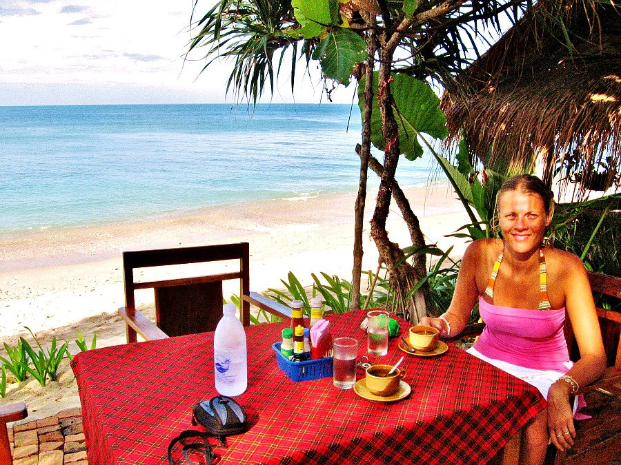 Breakfast on Thailand beach