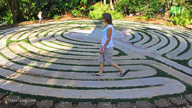 Crystal Castle meditative labyrinth
