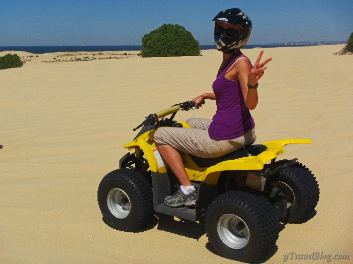 quad bike riding Stockton sand dunes