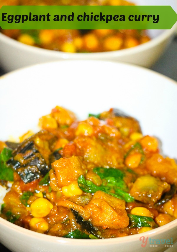 Eggplant and chick pea curry recipe